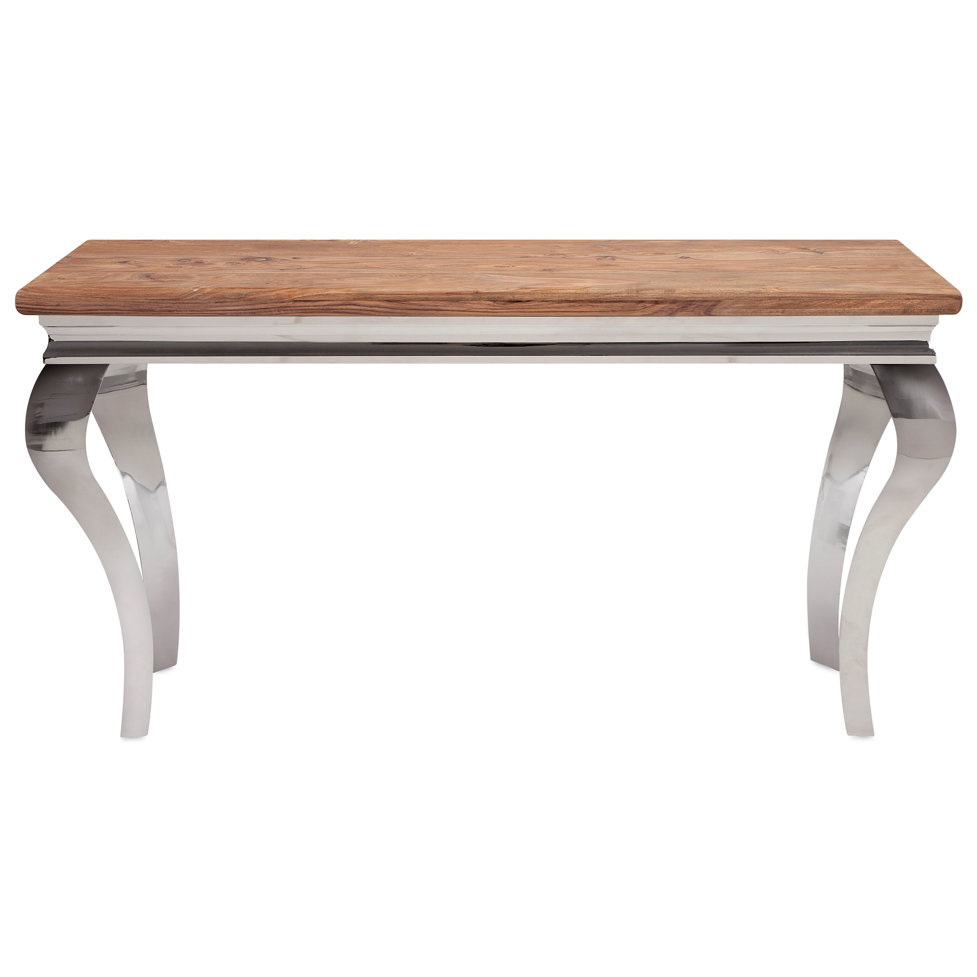 Bailey Stainless and Wood Console
