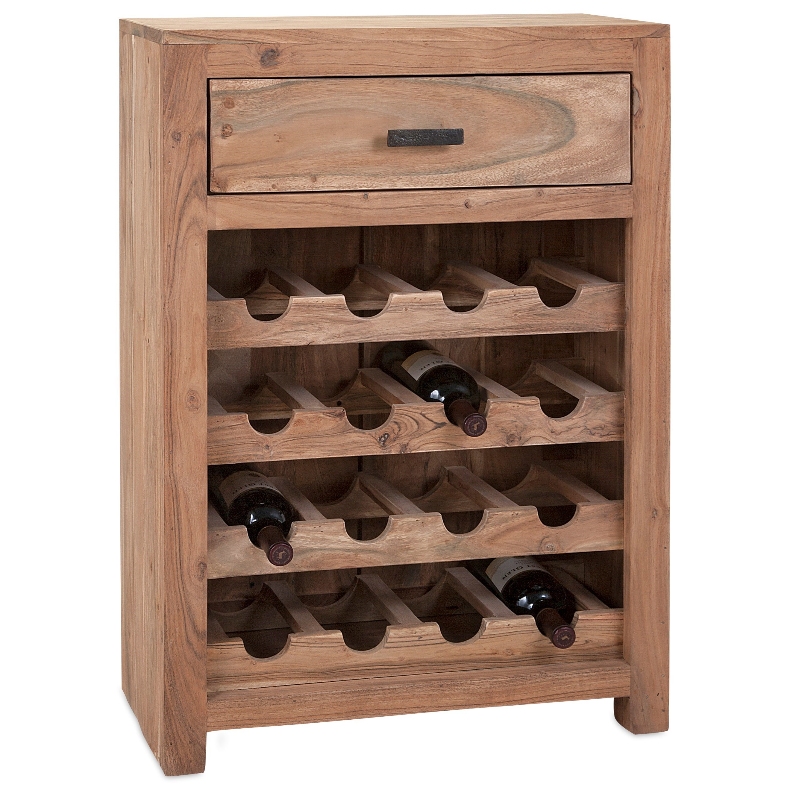 Accent Tables and Cabinets Cade Wine Storage Cabinet by IMAX Worldwide Home at Alison Craig Home Furnishings