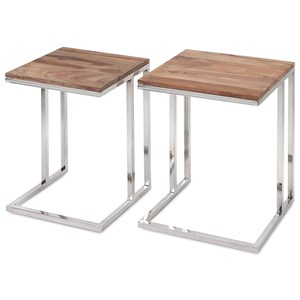 Cairo Stainless Steel Occasional Tables - Se