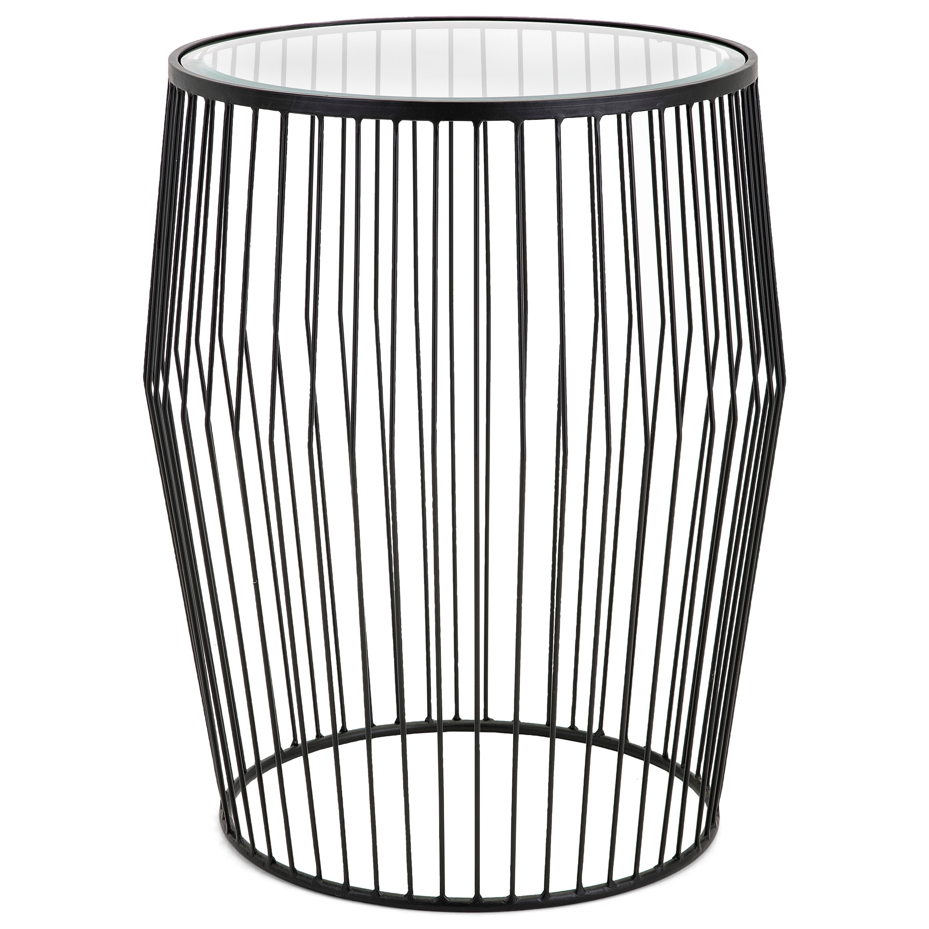 Zara Metal and Glass Cocktail Table