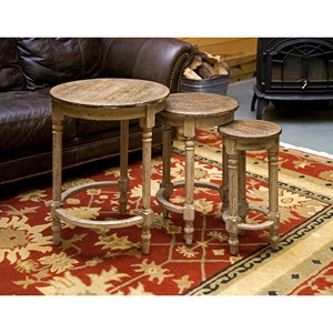 IMAX Worldwide Home Accent Tables and Cabinets Antique Inspired Nesting Tables - Set of 3
