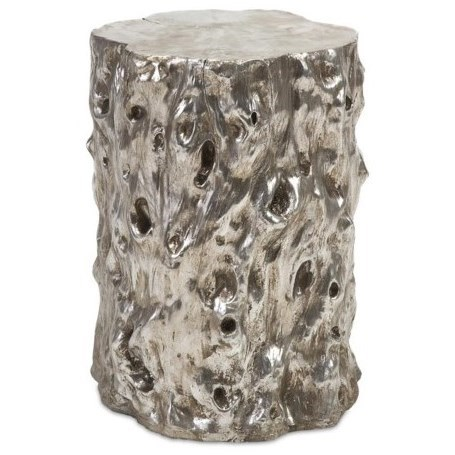 Accent Tables and Cabinets Silver Tree Trunk Stool by IMAX Worldwide Home at Alison Craig Home Furnishings
