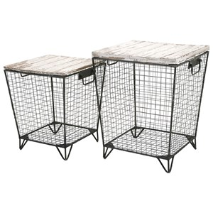 IMAX Worldwide Home Accent Tables and Cabinets Ava Cage Tables - Set of 2