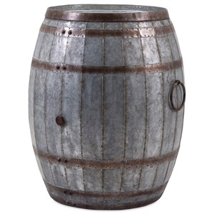 IMAX Worldwide Home Accent Tables and Cabinets Vineyard Wine Barrel Storage Table