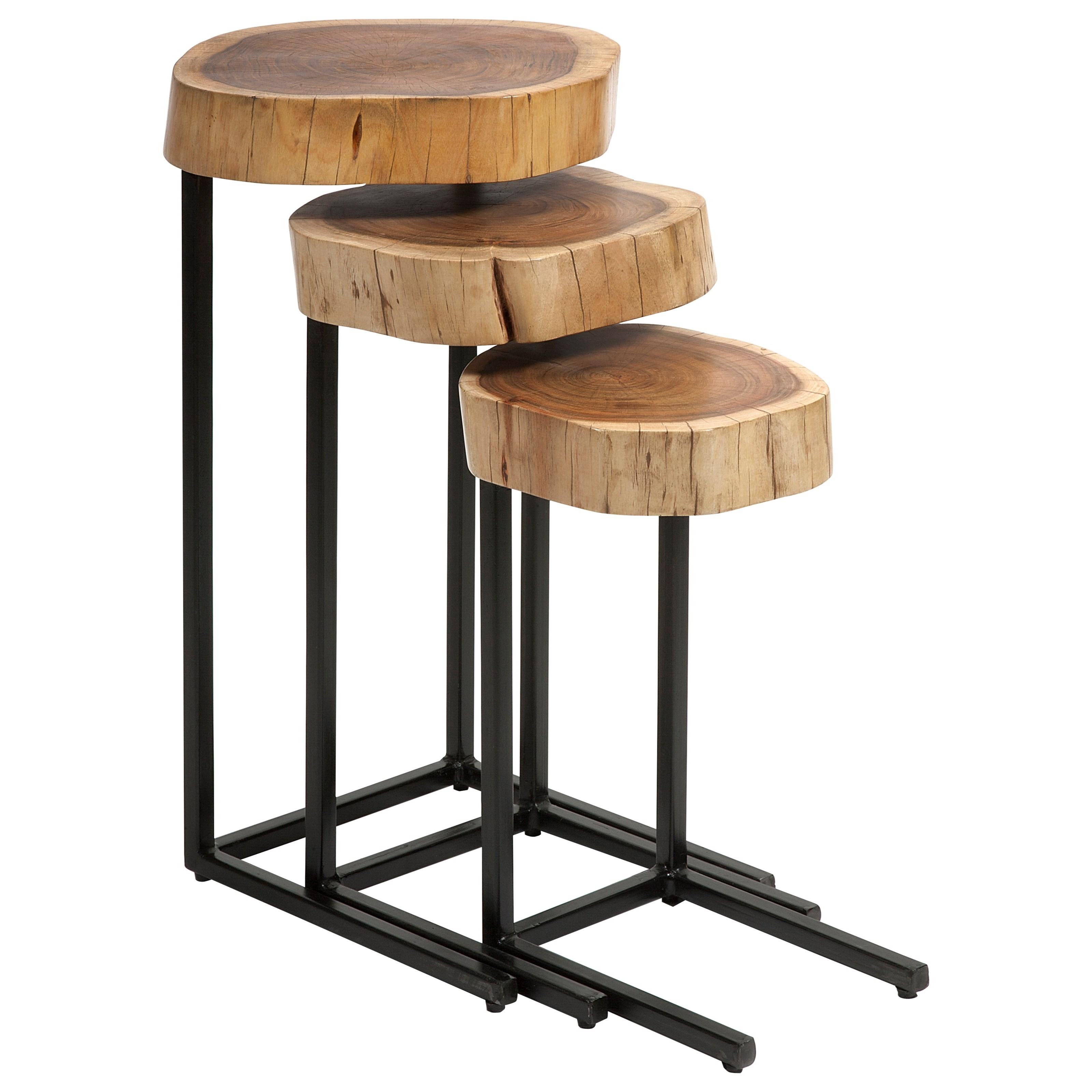 Nadera Wood and Iron Nesting Tables - Set of