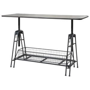 IMAX Worldwide Home Accent Tables and Cabinets Henry Adjustable Metal Work Table