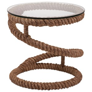 IMAX Worldwide Home Accent Tables and Cabinets Bedford Jute Rope Accent Table