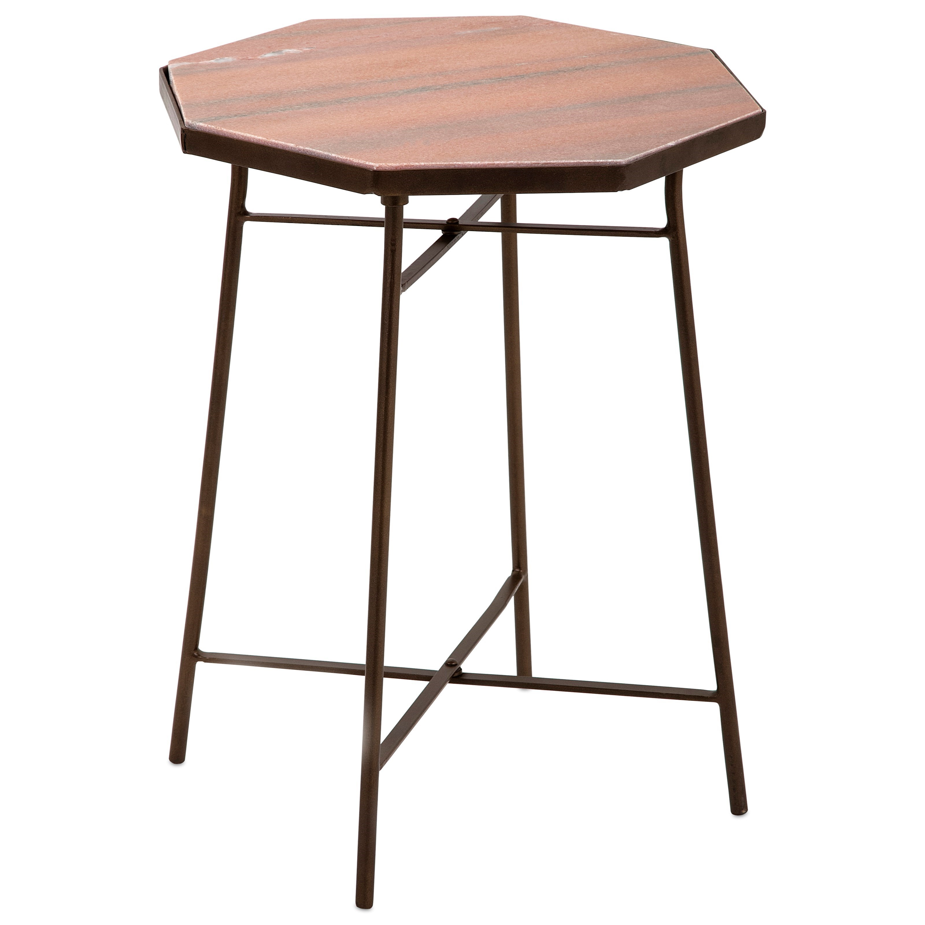 Harvey Marble Top Side Table