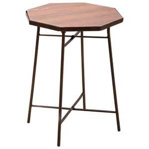 IMAX Worldwide Home Accent Tables and Cabinets Harvey Marble Top Side Table