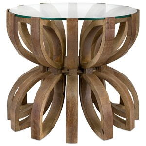 IMAX Worldwide Home Accent Tables and Cabinets Lotus Wood Accent Table