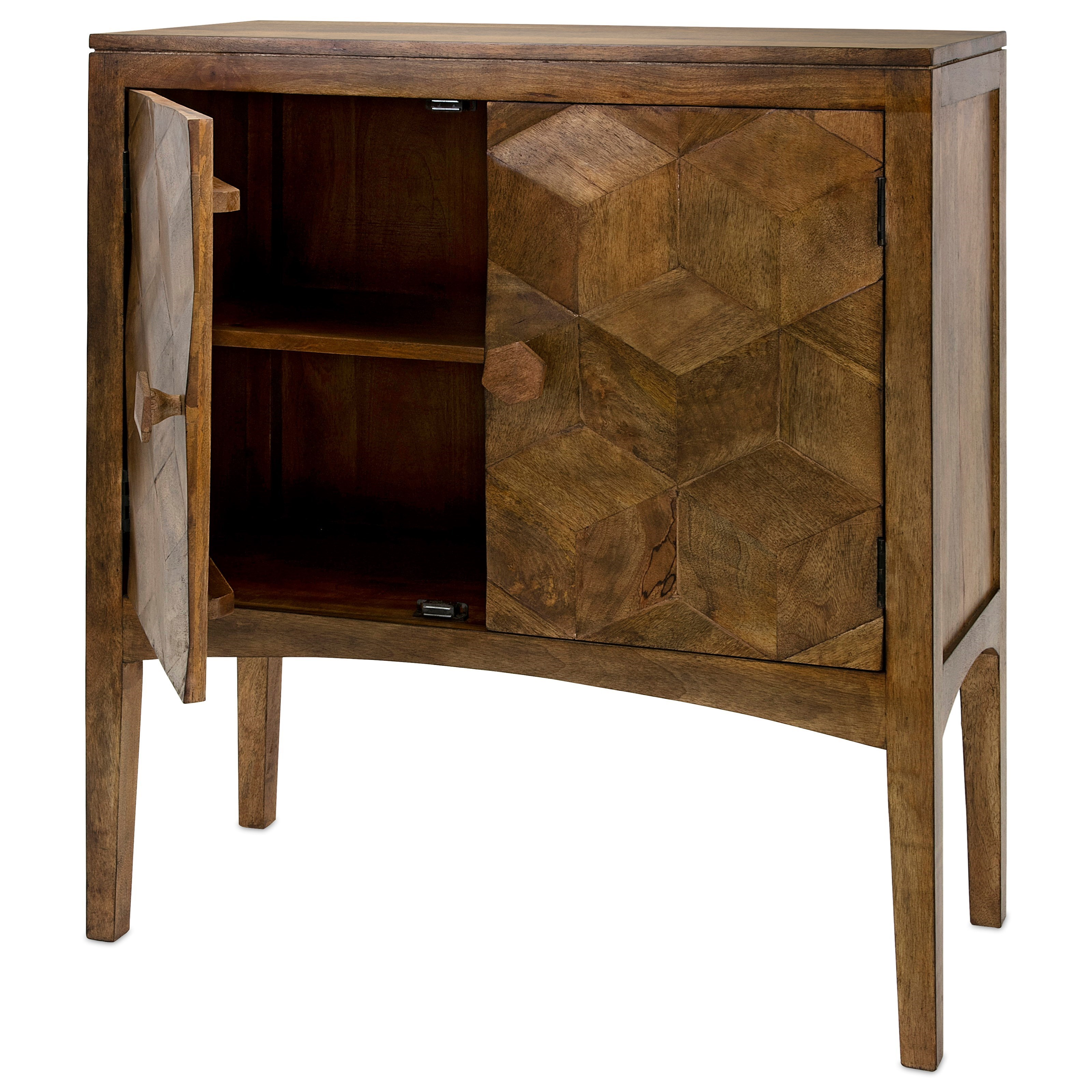 Accent Tables and Cabinets Hex 2-Door Cabinet by IMAX Worldwide Home at Alison Craig Home Furnishings