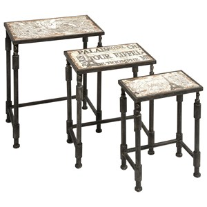 IMAX Worldwide Home Accent Tables and Cabinets Knoxlin Nesting Tables - Set of 3