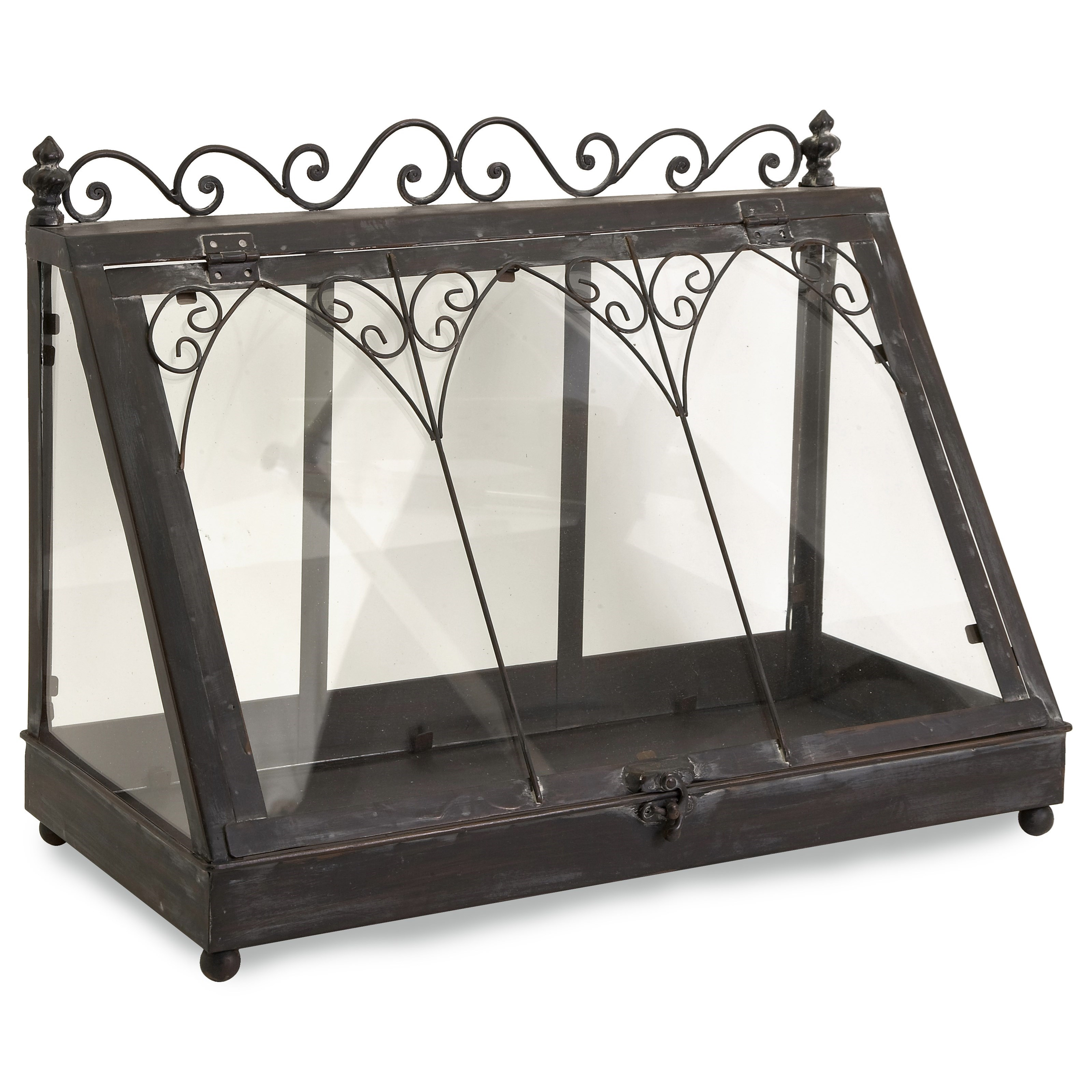 Accessories Lefroy Tabletop Terrarium by IMAX Worldwide Home at Alison Craig Home Furnishings