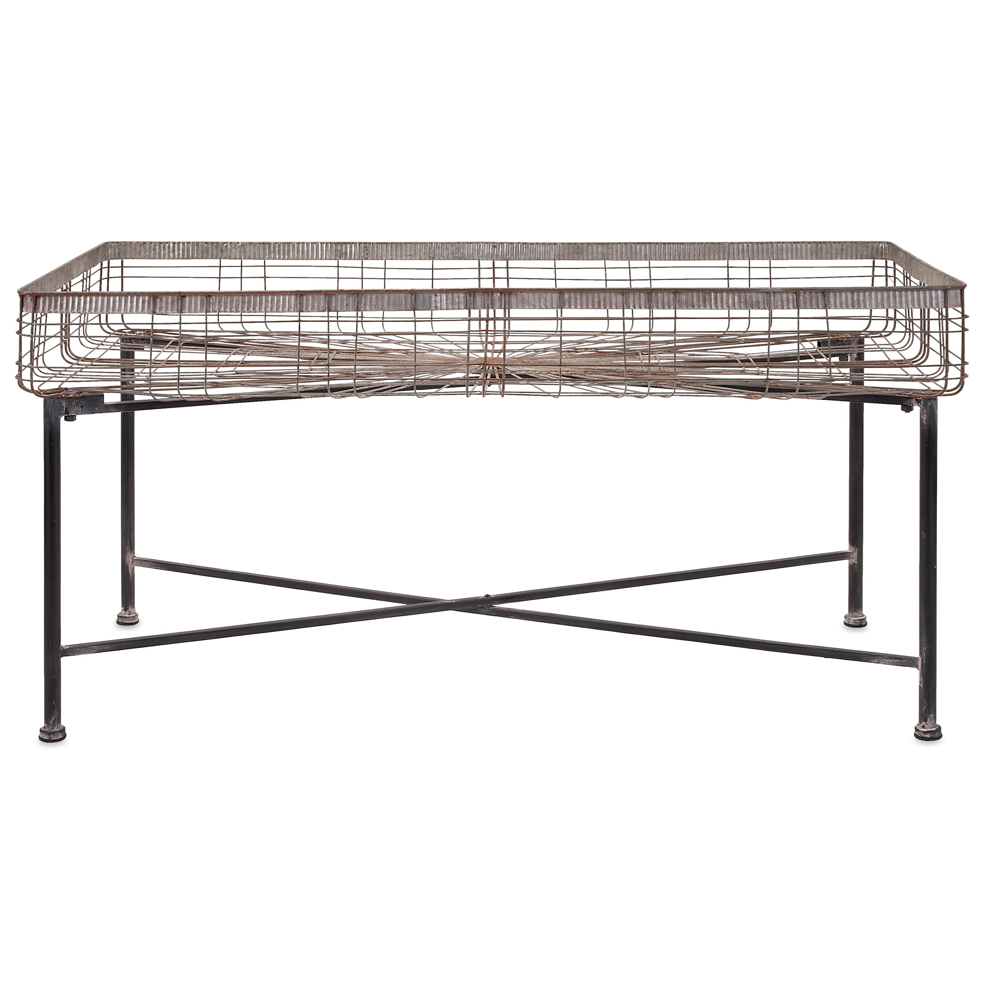 Accessories Pitzer Rectangle Wire Plant Stand by IMAX Worldwide Home at Alison Craig Home Furnishings