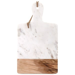 IMAX Worldwide Home Accessories Addy Marble and Wood Cheese Board