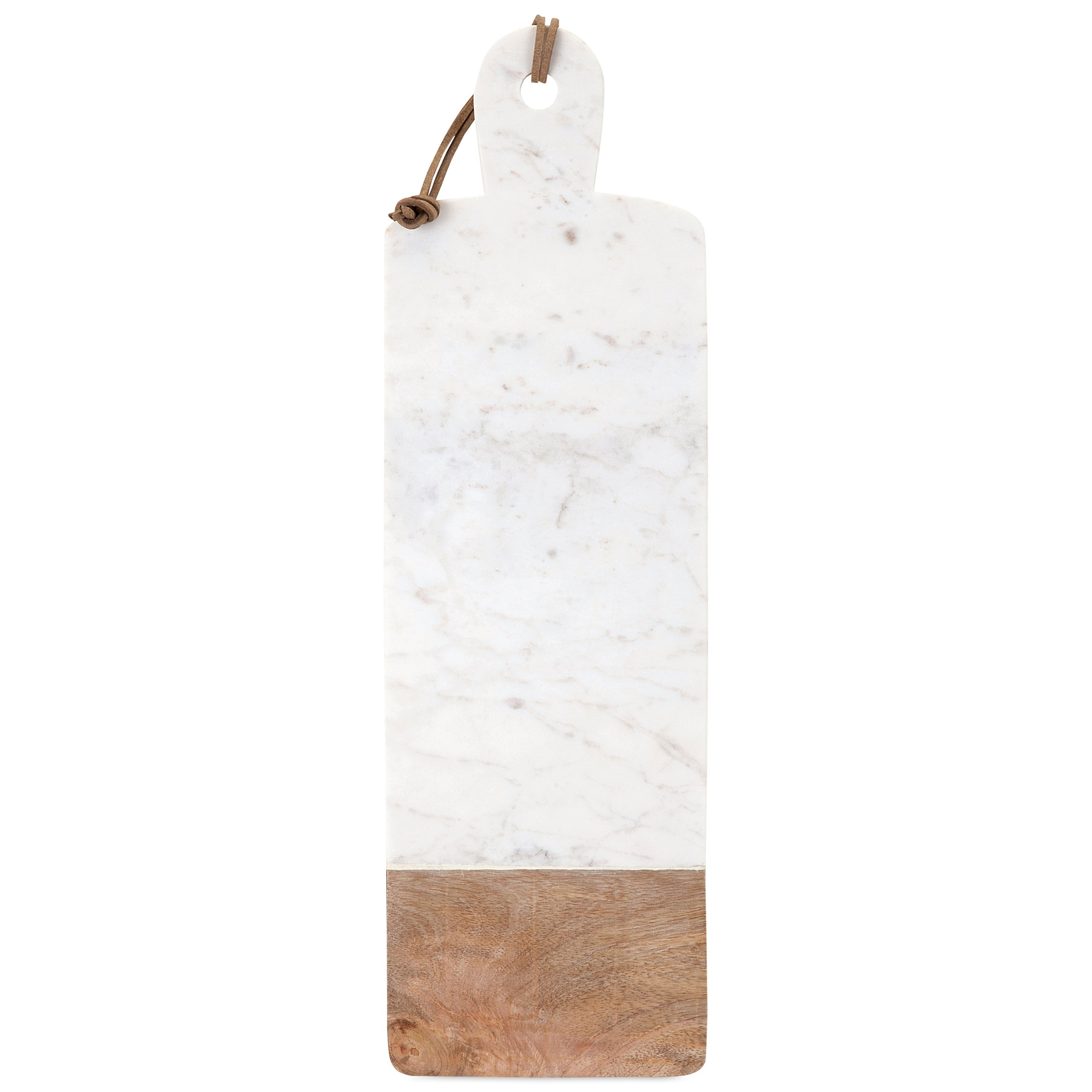 Accessories Danita Marble and Wood Cheese Board by IMAX Worldwide Home at Alison Craig Home Furnishings
