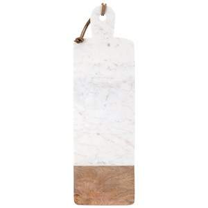 IMAX Worldwide Home Accessories Danita Marble and Wood Cheese Board