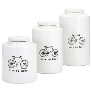 IMAX Worldwide Home Bottles, Jars, and Canisters Live to Ride Small Canister