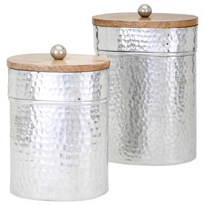 IMAX Worldwide Home Bottles, Jars, and Canisters Brant Lidded Containers - Set of 2