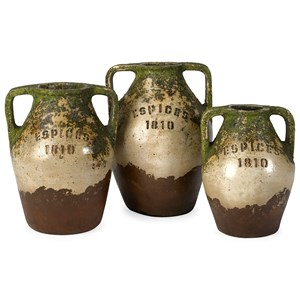 IMAX Worldwide Home Bottles, Jars, and Canisters Guerrero Terracotta Jars - Set of 3