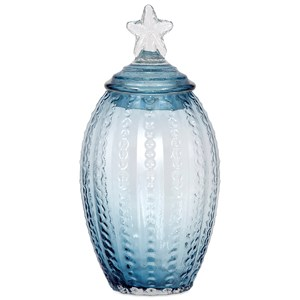 IMAX Worldwide Home Bottles, Jars, and Canisters Conch Large Glass Canister