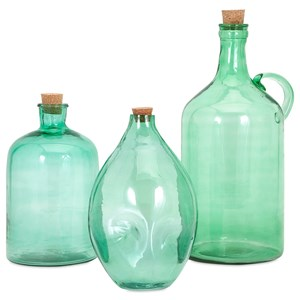 IMAX Worldwide Home Bottles, Jars, and Canisters Lynne Glass Jugs - Set of 3