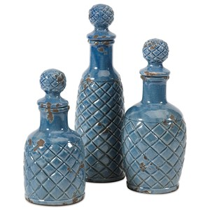 IMAX Worldwide Home Bottles, Jars, and Canisters Antonini Bottles - Set of 3