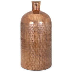 IMAX Worldwide Home Bottles, Jars, and Canisters Marnie Large Copper Glass Jug