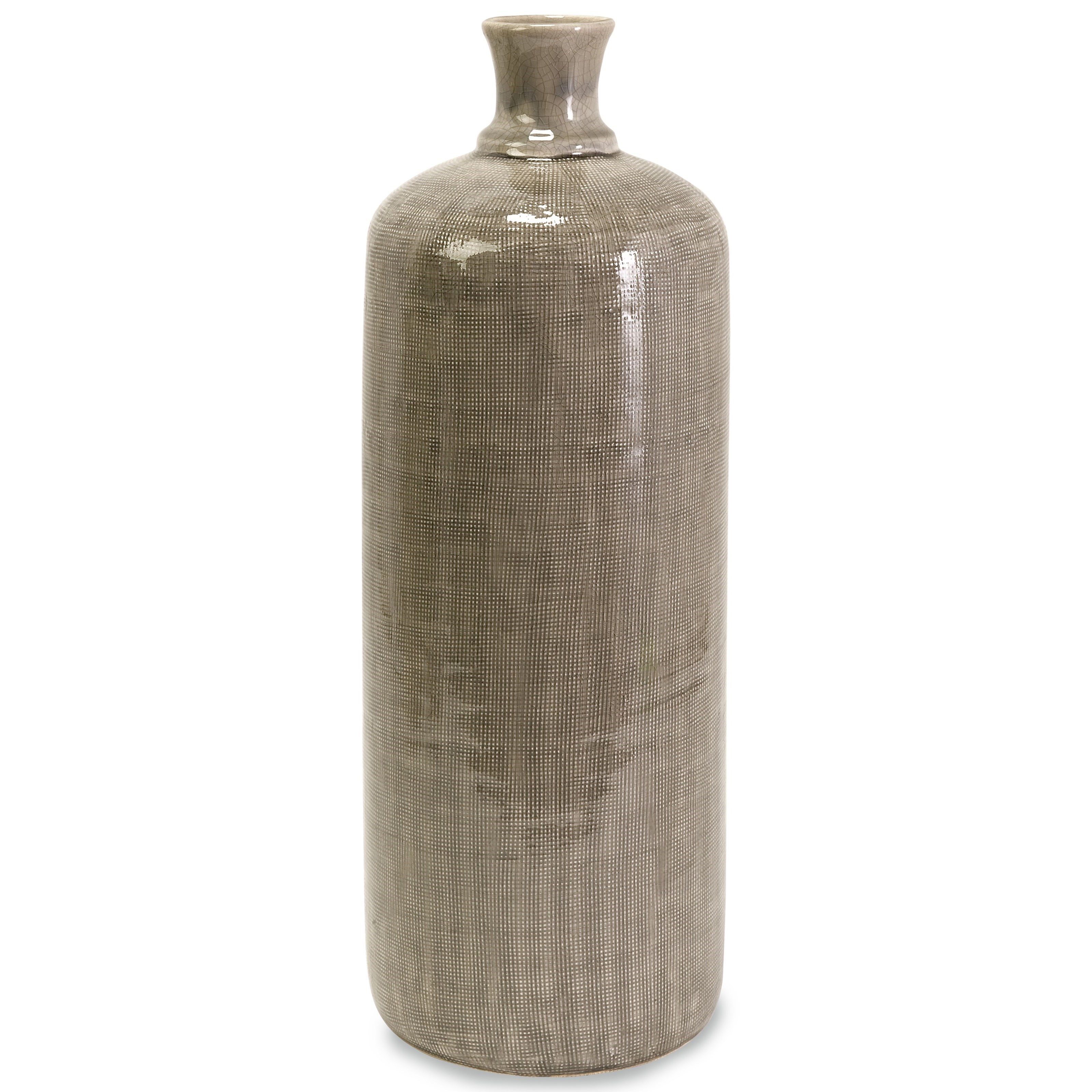 Bottles, Jars, and Canisters Kempton Large Grey Jar by IMAX Worldwide Home at Miller Waldrop Furniture and Decor