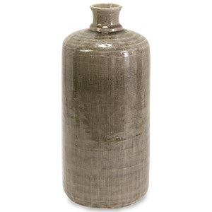 IMAX Worldwide Home Bottles, Jars, and Canisters Kempton Small Grey Jar