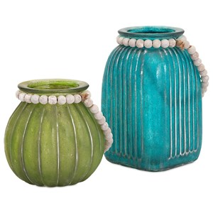 IMAX Worldwide Home Bottles, Jars, and Canisters Alta Colored Jars - Set of 2