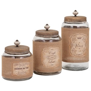 IMAX Worldwide Home Bottles, Jars, and Canisters Carley Lidded Glass Jars - Set of 3