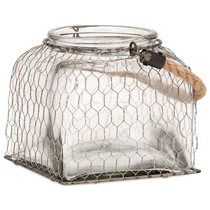 IMAX Worldwide Home Bottles, Jars, and Canisters Foley Small Wire Cage Jar