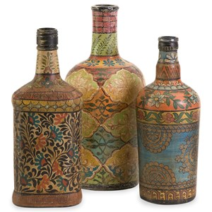 IMAX Worldwide Home Bottles, Jars, and Canisters Circus Bottles - Set of 3