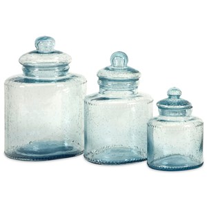 IMAX Worldwide Home Bottles, Jars, and Canisters Cyprus Glass Canisters - Set of 3