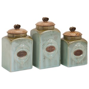 IMAX Worldwide Home Bottles, Jars, and Canisters Addison Ceramic Canisters - Set of 3