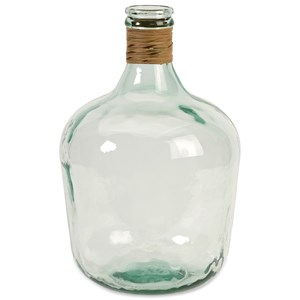 IMAX Worldwide Home Bottles, Jars, and Canisters Boccioni Small Recycled Glass Jug