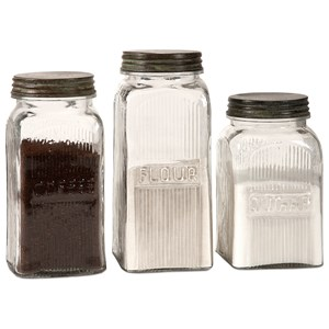 IMAX Worldwide Home Bottles, Jars, and Canisters Dyer Glass Canisters - Set of 3