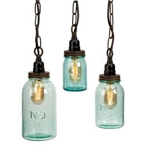 IMAX Worldwide Home Bottles, Jars, and Canisters Lexington Mason Jar Pendant Lights - Set of