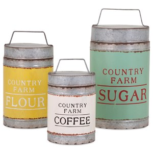 IMAX Worldwide Home Bottles, Jars, and Canisters Dairy Barn Decorative Lidded Containers - Se
