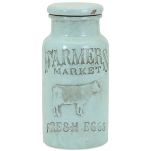 IMAX Worldwide Home Bottles, Jars, and Canisters Farmers Market Small Lidded Jar