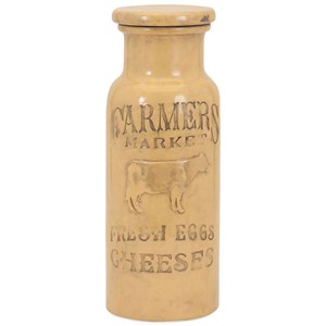 IMAX Worldwide Home Bottles, Jars, and Canisters Farmers Market Large Lidded Jar