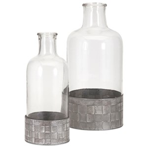 IMAX Worldwide Home Bottles, Jars, and Canisters Kaffee Large Bottle with Metal Base