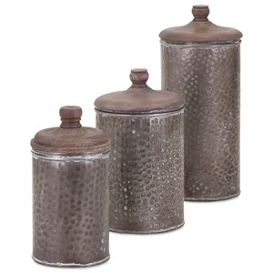 IMAX Worldwide Home Bottles, Jars, and Canisters Brampton Lidded Canisters - Set of 3