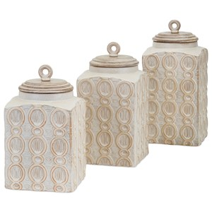 IMAX Worldwide Home Bottles, Jars, and Canisters Dreanna Canisters - Set of 3