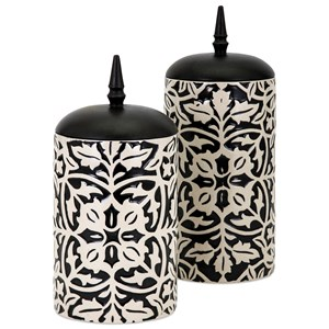 IMAX Worldwide Home Bottles, Jars, and Canisters Nola Canisters - Set of 2