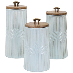 IMAX Worldwide Home Bottles, Jars, and Canisters Tia Canisters - Set of 3