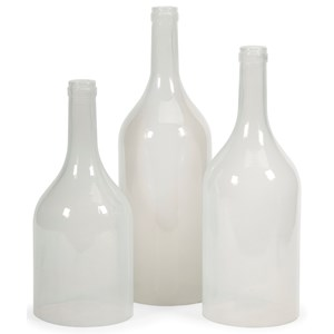 IMAX Worldwide Home Bottles, Jars, and Canisters Monteith Cloche Bottles - Set of 3