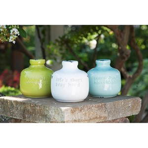 IMAX Worldwide Home Bottles, Jars, and Canisters Inspired Ceramic Jugs - Ast 3