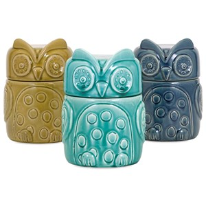IMAX Worldwide Home Bottles, Jars, and Canisters Bristol Owl Canisters - Ast 3